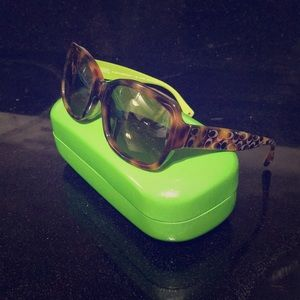Coach tortoise sunglasses with Kate Spade case